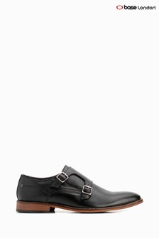 Base London® Black Montage Buckle Up Shoes