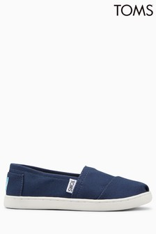 TOMS Navy Canvas Alpargatas Slip-On Shoe