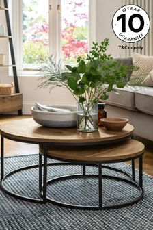 Coffee tables oak glass coffee tables next official site - Glass side tables for living room uk ...