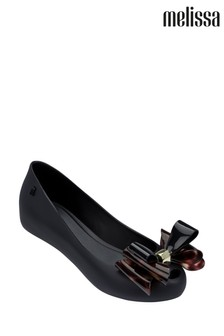 Melissa Black Ultragirl Triple Bow Pumps