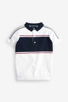 Colourblock Knitted Polo (3-16yrs)