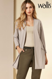 Wallis Natural Zipped Pocket Jacket