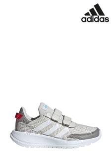 adidas Grey/White Tensaur Run Junior Trainers