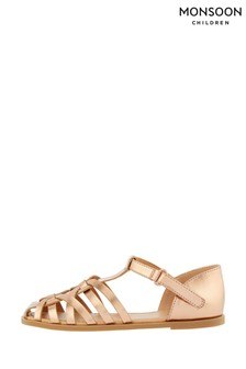 Monsoon Rose Gold Caged Sandals