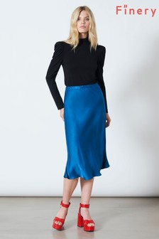 Finery London Blue Blake Skirt