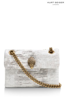 Kurt Geiger London White Leather Mini Kensington Bag