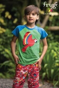 Frugi Organic Reversible Shorts - Red India Print