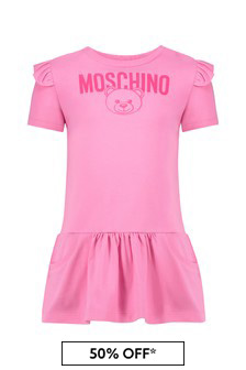 Baby Girls Pink Cotton Dress