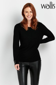 Wallis Black Stud Detail Jumper