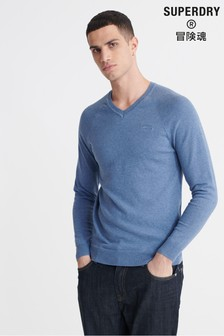 Superdry Orange Label Cotton V-Neck Jumper