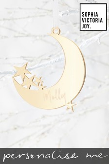 Personalised Moon Christmas Decoration by Sophia Victoria Joy