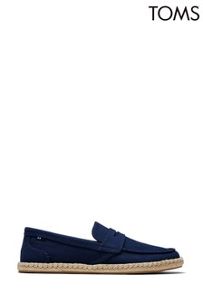 TOMS Navy Slubby Woven Stanford Rope Shoes