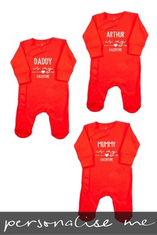 Personalised Valentines Day Sleepsuit