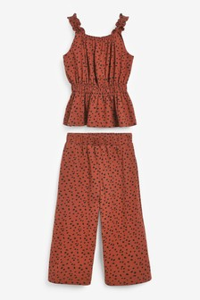 Spot Top And Culottes Co-ord Set (3-16yrs)