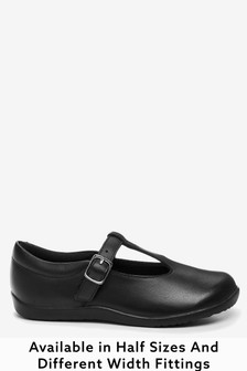 Junior Leather T-Bar Shoes