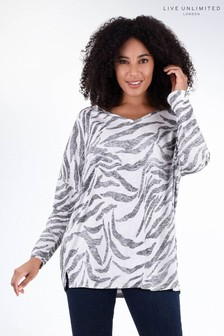 Live Unlimited Zebra Jersey Top