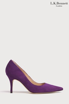 L.K.Bennett Purple Harmony Pointed Toe Courts