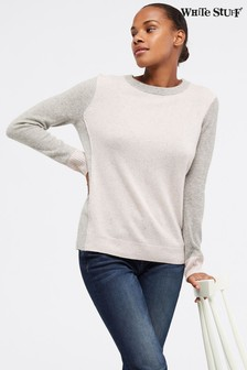 White Stuff Pink Cashmere Laurel Jumper