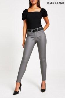River Island Grey Molly Foggy Jeans