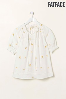 FatFace Natural Lissie Embroidered Blouse