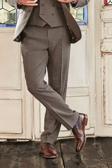Tailored Fit Dogtooth Suit: Trousers