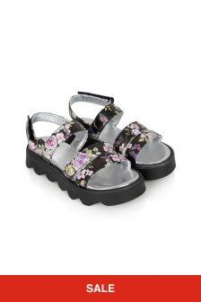 Monnalisa Girls Black Sandals
