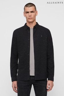 AllSaints Black Speckle Altmar Shirt