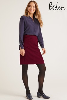 Boden Purple Bay Mini Skirt