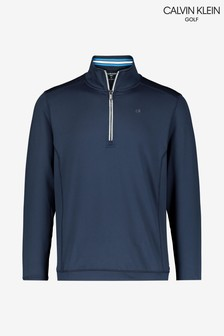 Calvin Klein Golf Blue Orbit Half Zip Jumper
