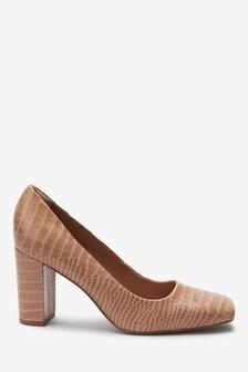 Signature Square Toe Court Shoes