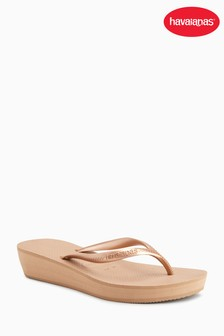 Havaianas® Rose Gold Highlight Wedge