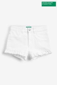 Benetton Denim Frill Shorts