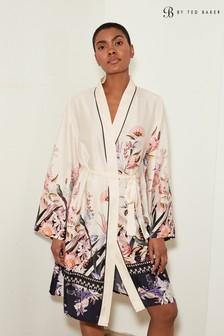 B by Ted Baker Mesh Detail Satin Robe
