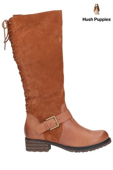 Hush Puppies Tan Pomeranian High Boots