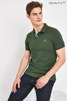 GANT Green Contrast Collar Poloshirt