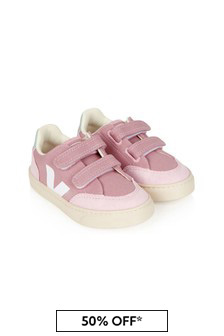Veja Girls Pink Vegan Leather Trainers