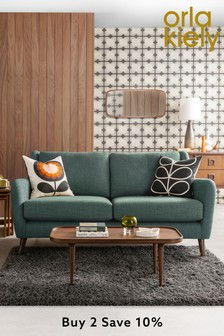 Orla Kiely Teal Fern Large Sofa