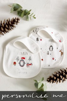 Personalised My First Christmas Bibs Two Pack