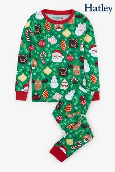 Hatley Green Holiday Ornaments Kids Pyjama Set