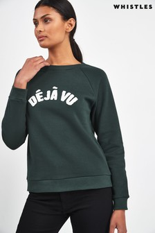 Whistles Green Déjà Vu Sweatshirt