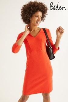 Boden Orange Bronte Jersey Dress