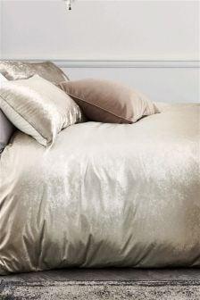 Ombre Velvet Duvet Cover and Pillowcase Set