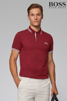 BOSS Pink Paul Curved Polo