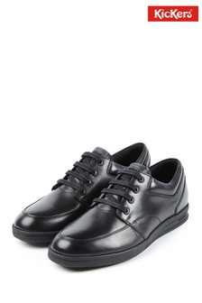 Kickers® Black Troiko Lace Shoes