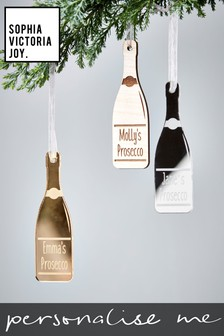 Personalised Prosecco Decoration by Sophia Victoria Joy