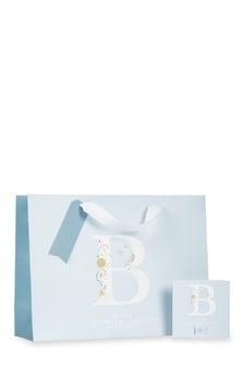 Baby Boy Monogram Bag, Card And Tissue Set