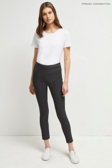 French Connection Grey Calimero Strtch Mini Dogtooth Trousers