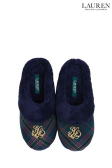 Lauren Ralph Lauren® Green Plaid Slippers