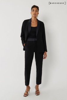 Warehouse Black Tuxedo Trousers