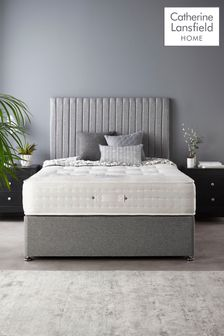 Catherine Lansfield Soho Divan Set With Natural Wool 2000 Mattress Grey